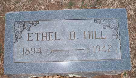 HILL, ETHEL D - Montgomery County, Kansas | ETHEL D HILL - Kansas Gravestone Photos