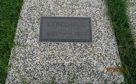 HILL, ETHEL - Montgomery County, Kansas | ETHEL HILL - Kansas Gravestone Photos