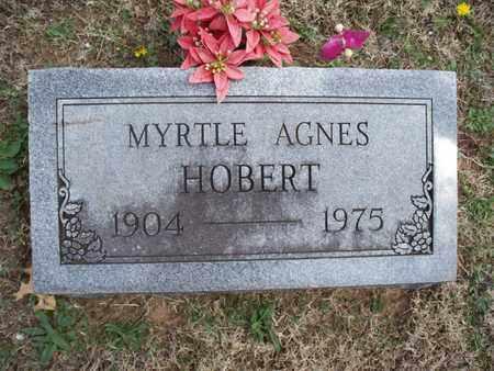 HOBERT, MYRTLE AGNES - Montgomery County, Kansas | MYRTLE AGNES HOBERT - Kansas Gravestone Photos