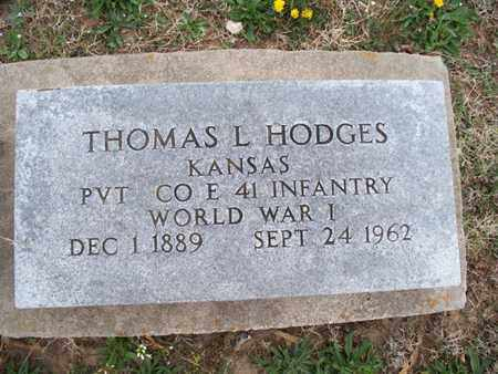 HODGES, THOMAS L   (VETERAN WWI) - Montgomery County, Kansas | THOMAS L   (VETERAN WWI) HODGES - Kansas Gravestone Photos