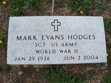 HODGES, MARK EVANS  (VETERAN WWII) - Montgomery County, Kansas | MARK EVANS  (VETERAN WWII) HODGES - Kansas Gravestone Photos