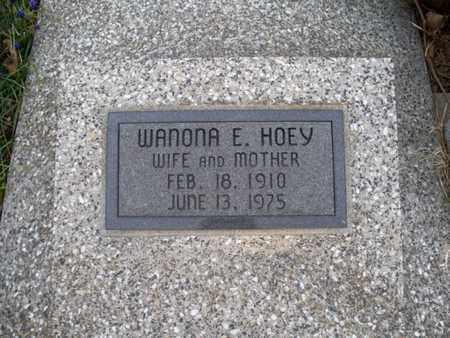 HOEY, WANONA E - Montgomery County, Kansas | WANONA E HOEY - Kansas Gravestone Photos