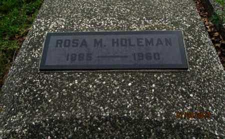HOLEMAN, ROSA M - Montgomery County, Kansas   ROSA M HOLEMAN - Kansas Gravestone Photos