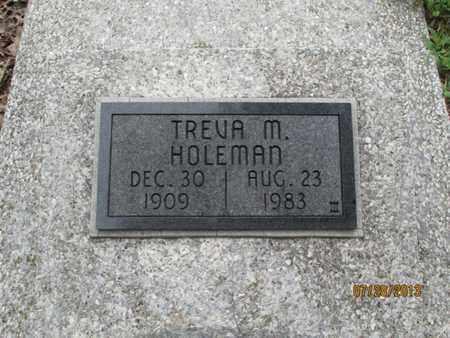 HOLEMAN, TREVA M - Montgomery County, Kansas | TREVA M HOLEMAN - Kansas Gravestone Photos