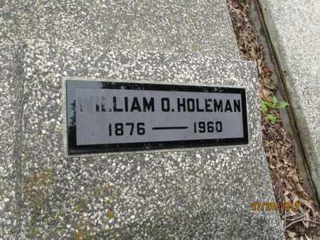 HOLEMAN, WILLIAM O - Montgomery County, Kansas   WILLIAM O HOLEMAN - Kansas Gravestone Photos