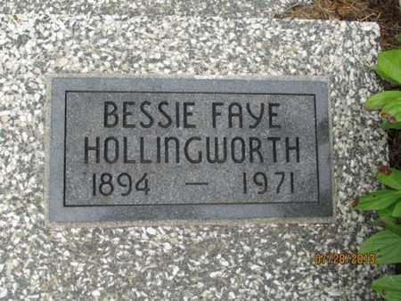 HOLLINGWORTH, BESSIE FAYE - Montgomery County, Kansas | BESSIE FAYE HOLLINGWORTH - Kansas Gravestone Photos