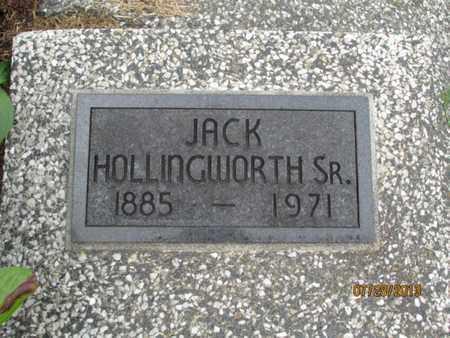 HOLLINGWORTH, JACK, SR - Montgomery County, Kansas | JACK, SR HOLLINGWORTH - Kansas Gravestone Photos