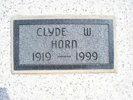 HORN, CLYDE W - Montgomery County, Kansas | CLYDE W HORN - Kansas Gravestone Photos