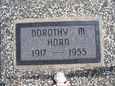 HORN, DOROTHY M - Montgomery County, Kansas | DOROTHY M HORN - Kansas Gravestone Photos