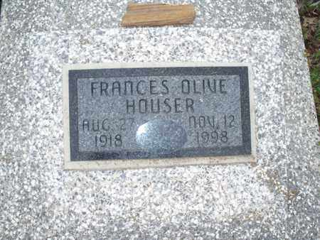 HOUSER, FRANCES OLIVE - Montgomery County, Kansas | FRANCES OLIVE HOUSER - Kansas Gravestone Photos