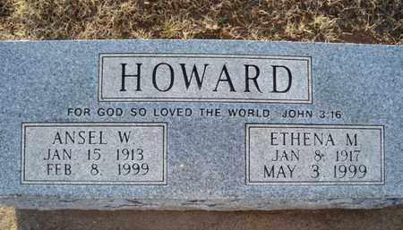 HOWARD, ANSEL W - Montgomery County, Kansas | ANSEL W HOWARD - Kansas Gravestone Photos