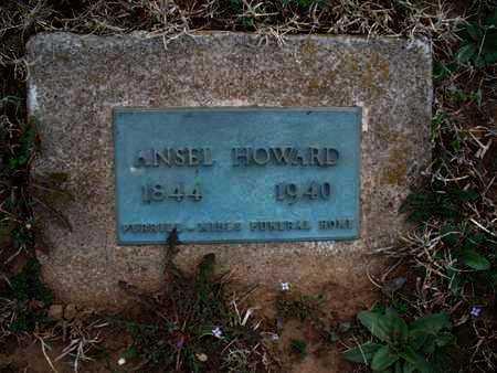 HOWARD, ANSEL - Montgomery County, Kansas   ANSEL HOWARD - Kansas Gravestone Photos