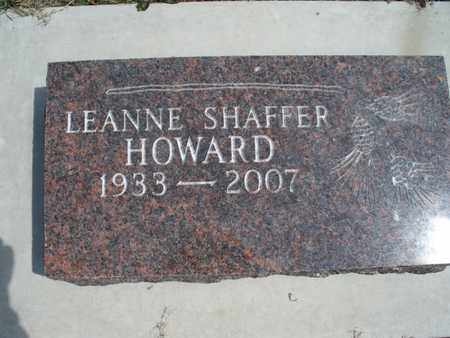 SHAFFER HOWARD, LEANNE - Montgomery County, Kansas | LEANNE SHAFFER HOWARD - Kansas Gravestone Photos