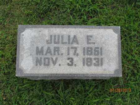 OAKES, JULIA E - Montgomery County, Kansas | JULIA E OAKES - Kansas Gravestone Photos