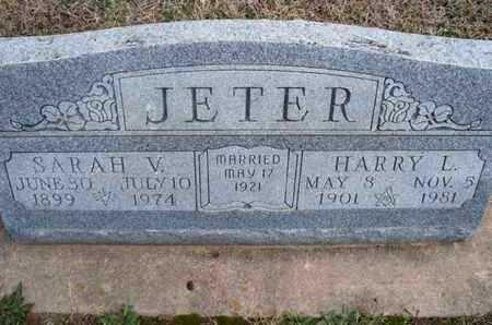 JETER, SARAH V - Montgomery County, Kansas | SARAH V JETER - Kansas Gravestone Photos