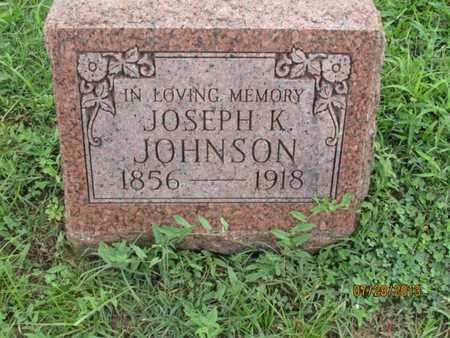 JOHNSON, JOSEPH K - Montgomery County, Kansas | JOSEPH K JOHNSON - Kansas Gravestone Photos