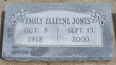 JONES, EMILY ELLEENE - Montgomery County, Kansas | EMILY ELLEENE JONES - Kansas Gravestone Photos