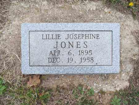 JONES, LILLIE JOSEPHINE - Montgomery County, Kansas | LILLIE JOSEPHINE JONES - Kansas Gravestone Photos