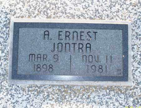 JONTRA, A  ERNEST - Montgomery County, Kansas   A  ERNEST JONTRA - Kansas Gravestone Photos