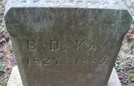 KAY, B  D  - Montgomery County, Kansas | B  D  KAY - Kansas Gravestone Photos