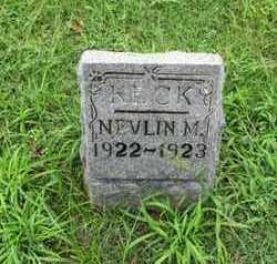KECK, NEVLIN M - Montgomery County, Kansas   NEVLIN M KECK - Kansas Gravestone Photos