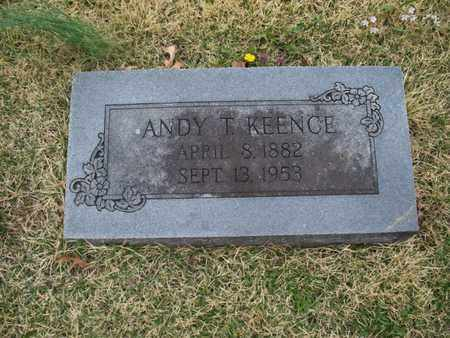 KEENCE, ANDY T - Montgomery County, Kansas | ANDY T KEENCE - Kansas Gravestone Photos