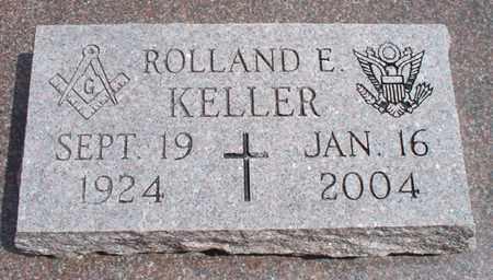 KELLER, ROLLAND E - Montgomery County, Kansas | ROLLAND E KELLER - Kansas Gravestone Photos