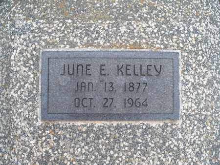 KELLEY, JUNE E - Montgomery County, Kansas | JUNE E KELLEY - Kansas Gravestone Photos