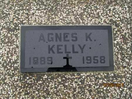 KELLY, AGNES K - Montgomery County, Kansas | AGNES K KELLY - Kansas Gravestone Photos