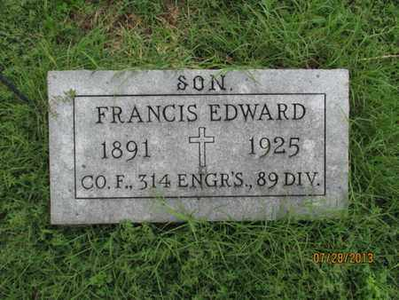 KELLY, FRANCIS EDWARD    (VETERAN WWI) - Montgomery County, Kansas   FRANCIS EDWARD    (VETERAN WWI) KELLY - Kansas Gravestone Photos