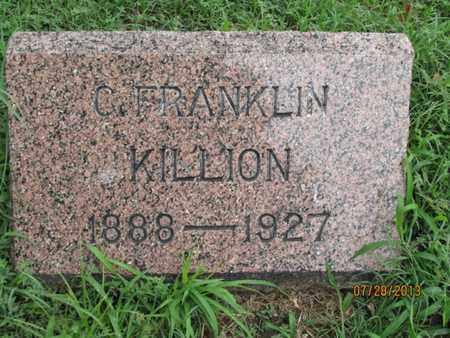 KILLION, C. FRANKLIN - Montgomery County, Kansas | C. FRANKLIN KILLION - Kansas Gravestone Photos