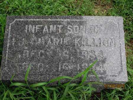 KILLION, INFANT SON - Montgomery County, Kansas | INFANT SON KILLION - Kansas Gravestone Photos