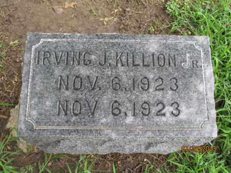 KILLION, IRVING J, JR - Montgomery County, Kansas   IRVING J, JR KILLION - Kansas Gravestone Photos