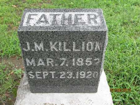 KILLION, J M - Montgomery County, Kansas   J M KILLION - Kansas Gravestone Photos