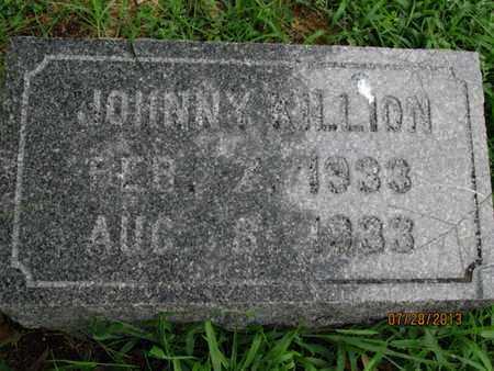 KILLION, JOHNNY - Montgomery County, Kansas   JOHNNY KILLION - Kansas Gravestone Photos
