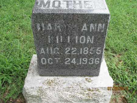 KILLION, MARY ANN - Montgomery County, Kansas | MARY ANN KILLION - Kansas Gravestone Photos