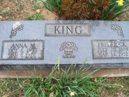 KING, ANNA M - Montgomery County, Kansas | ANNA M KING - Kansas Gravestone Photos