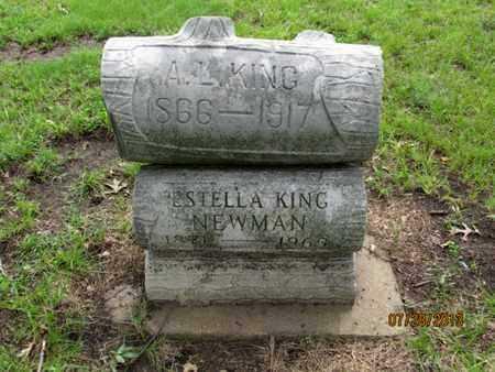 KING, A L - Montgomery County, Kansas | A L KING - Kansas Gravestone Photos