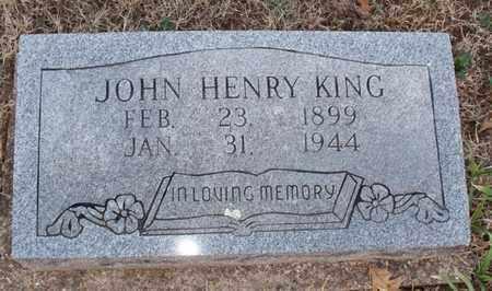 KING, JOHN HENRY - Montgomery County, Kansas | JOHN HENRY KING - Kansas Gravestone Photos