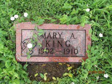 KING, MARY A - Montgomery County, Kansas | MARY A KING - Kansas Gravestone Photos