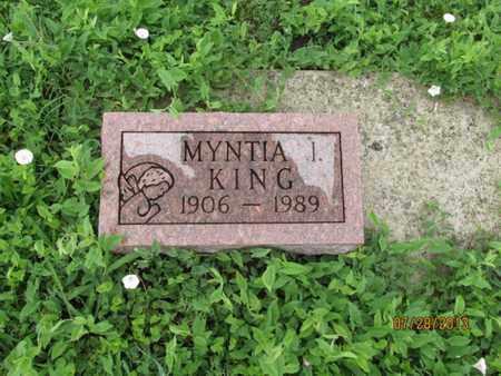 KING, MYNTIA I - Montgomery County, Kansas | MYNTIA I KING - Kansas Gravestone Photos