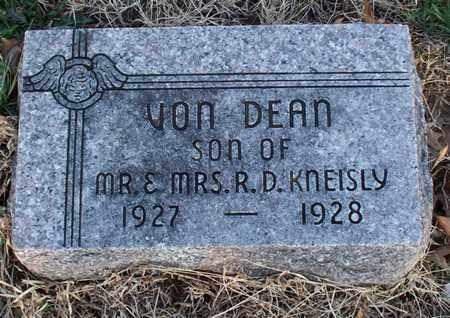 KNEISLY, VON DEAN - Montgomery County, Kansas | VON DEAN KNEISLY - Kansas Gravestone Photos