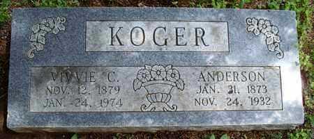 KOGER, ANDERSON - Montgomery County, Kansas | ANDERSON KOGER - Kansas Gravestone Photos