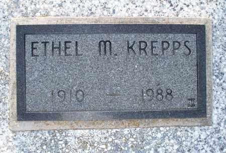 KREPPS, ETHEL M - Montgomery County, Kansas   ETHEL M KREPPS - Kansas Gravestone Photos