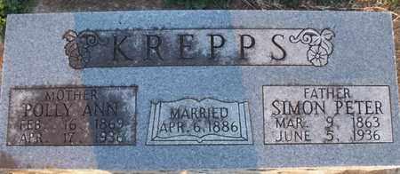 KREPPS, SIMON PETER - Montgomery County, Kansas   SIMON PETER KREPPS - Kansas Gravestone Photos