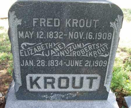 KROUT, FRED - Montgomery County, Kansas | FRED KROUT - Kansas Gravestone Photos