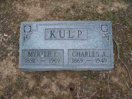 KULP, MYRTLE I - Montgomery County, Kansas   MYRTLE I KULP - Kansas Gravestone Photos
