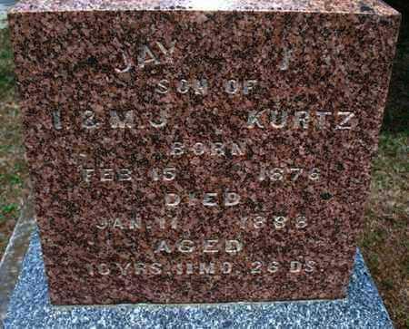 KURTZ, JAY J - Montgomery County, Kansas | JAY J KURTZ - Kansas Gravestone Photos