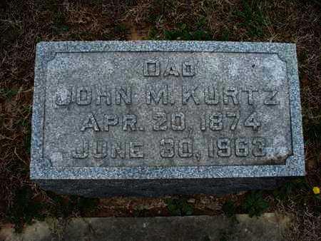KURTZ, JOHN M - Montgomery County, Kansas | JOHN M KURTZ - Kansas Gravestone Photos