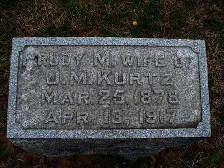 KURTZ, RUBY M - Montgomery County, Kansas | RUBY M KURTZ - Kansas Gravestone Photos